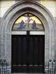 Puerta de la Iglesia en donde Lutero clavó sus tesis